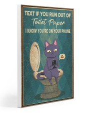 TEXT IF YOU RUN OUT OF TOILET PAPER POSTER Gallery Wrapped Canvas Prints tile