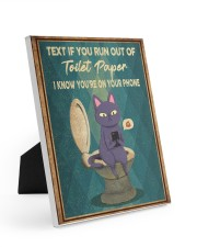 TEXT IF YOU RUN OUT OF TOILET PAPER POSTER Easel-Back Gallery Wrapped Canvas tile