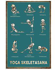 Yoga Skeletasana Yoga funny poster wall art  11x17 Poster front