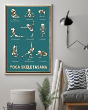 Yoga Skeletasana Yoga funny poster wall art  11x17 Poster lifestyle-poster-1