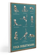 Yoga Skeletasana Yoga funny poster wall art  Gallery Wrapped Canvas Prints tile