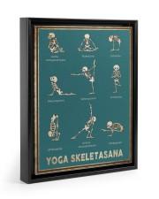 Yoga Skeletasana Yoga funny poster wall art  Floating Framed Canvas Prints Black tile