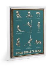 Yoga Skeletasana Yoga funny poster wall art  Floating Framed Canvas Prints White tile