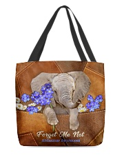 Forget Me Not Tote Bag  All-over Tote back