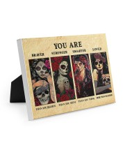 YOU ARE BRAVER THAN YOU BELIEVE POSTER Easel-Back Gallery Wrapped Canvas tile