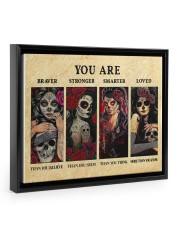 YOU ARE BRAVER THAN YOU BELIEVE POSTER Floating Framed Canvas Prints Black tile