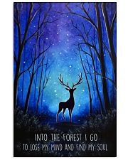 Into the forest I go camping wall art print 11x17 Poster front