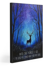 Into the forest I go camping wall art print Gallery Wrapped Canvas Prints tile