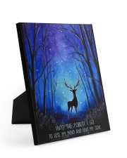 Into the forest I go camping wall art print Easel-Back Gallery Wrapped Canvas tile