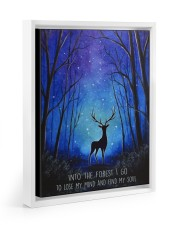 Into the forest I go camping wall art print Floating Framed Canvas Prints White tile