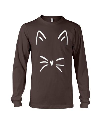 Cute Cat Shirt Kitty Kitten Whiskers Face