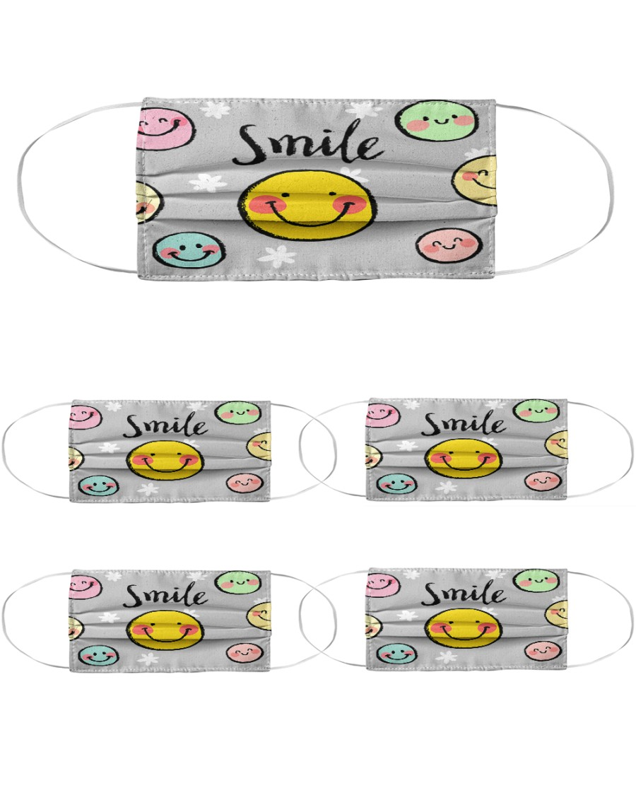 cute mask for kids : smile Cloth Face Mask - 5 Pack