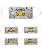 cute mask for kids : smile Cloth Face Mask - 5 Pack front
