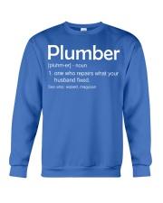 Plumber Definition Crewneck Sweatshirt front