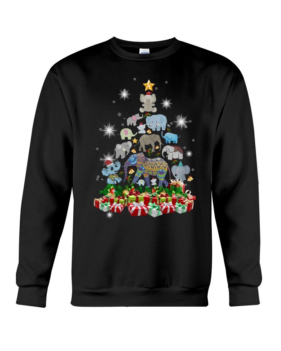 Elephant Christmas Crewneck Sweatshirt