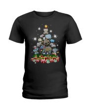 Elephant Christmas Ladies T-Shirt thumbnail