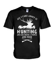 HUNTING HUNTING HUNTING V-Neck T-Shirt tile