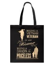 VIETNAM VETERAN - GRANDPA PRICELESS Tote Bag thumbnail
