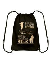 VIETNAM VETERAN - GRANDPA PRICELESS Drawstring Bag thumbnail