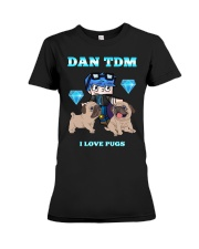 DanTDM and Pugs Premium Fit Ladies Tee thumbnail