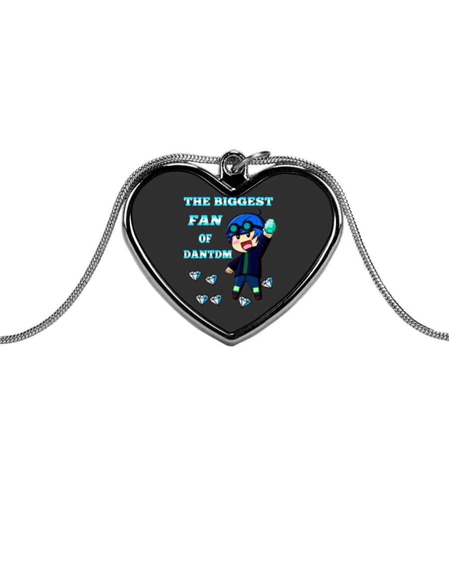 DANTDM PHONECASE Metallic Heart Necklace
