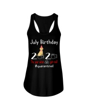 July Birthday with your dog Ladies Flowy Tank thumbnail