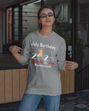 July Birthday with your dog Long Sleeve Tee apparel-long-sleeve-tee-lifestyle-08