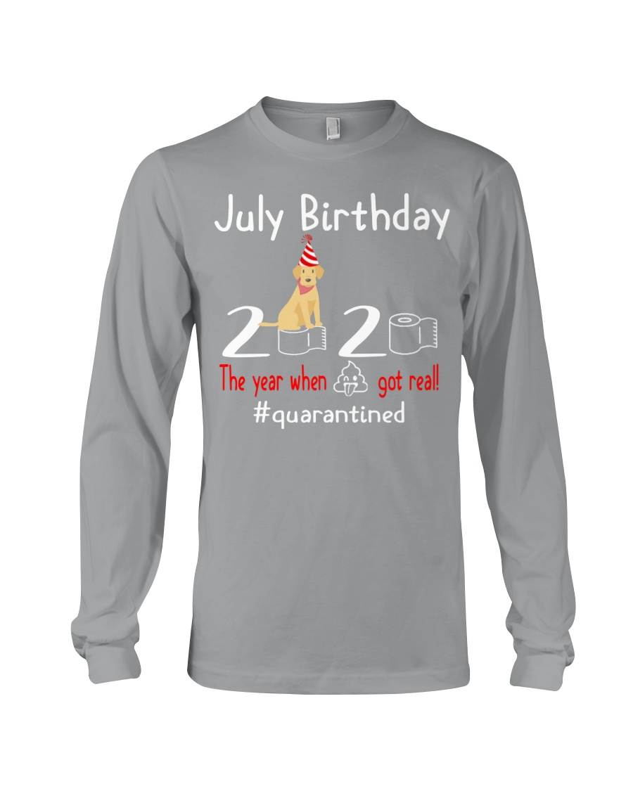 July Birthday with your dog Long Sleeve Tee