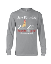 July Birthday with your dog Long Sleeve Tee front
