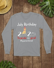 July Birthday with your dog Long Sleeve Tee lifestyle-unisex-longsleeve-front-7