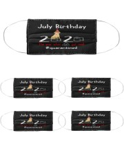 July Birthday with your dog Cloth Face Mask - 5 Pack thumbnail
