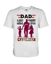 DAD  CAVALIERS V-Neck T-Shirt thumbnail