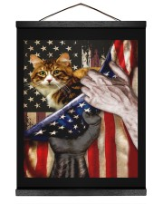 Independence Day with Cat 16x20 Black Hanging Canvas thumbnail
