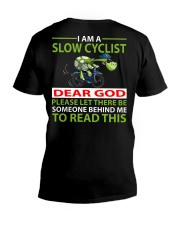 I am a Slow Cyclist V-Neck T-Shirt thumbnail