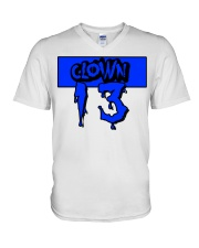 Clown13 BLue V-Neck T-Shirt thumbnail