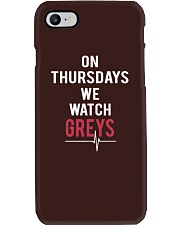 On Thursdays We Watch Greys Phone Case thumbnail