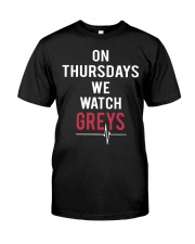 On Thursdays We Watch Greys Classic T-Shirt thumbnail