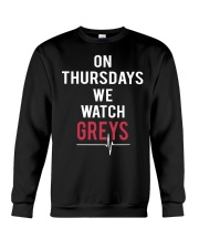 On Thursdays We Watch Greys Crewneck Sweatshirt front