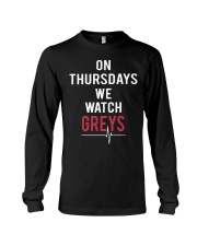 On Thursdays We Watch Greys Long Sleeve Tee thumbnail