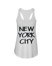 new york city t-shirt Ladies Flowy Tank front
