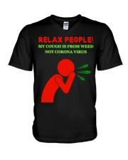 Weed Cough V-Neck T-Shirt thumbnail