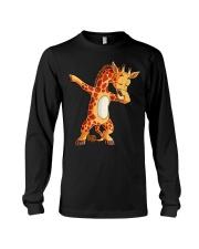 Dabbing Giraffe T shirt Giraffes Funny Dab  Long Sleeve Tee thumbnail