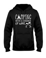 Camping With A Chance of Wine Glamping Gl Hooded Sweatshirt thumbnail