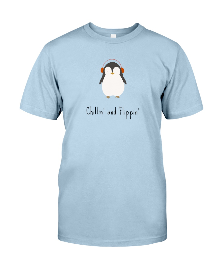 Chillin' and Flippin' Penguin Graphic Tee  Classic T-Shirt
