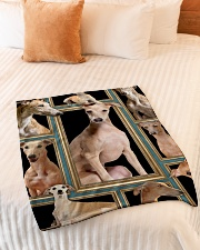 """greyhound Picture Small Fleece Blanket - 30"""" x 40"""" aos-coral-fleece-blanket-30x40-lifestyle-front-01"""
