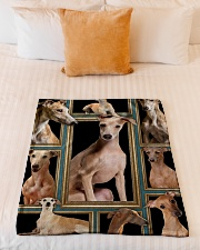 """greyhound Picture Small Fleece Blanket - 30"""" x 40"""" aos-coral-fleece-blanket-30x40-lifestyle-front-04"""