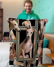 """greyhound Picture Small Fleece Blanket - 30"""" x 40"""" aos-coral-fleece-blanket-30x40-lifestyle-front-09"""