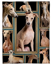 """greyhound Picture Small Fleece Blanket - 30"""" x 40"""" front"""