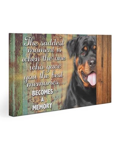 Rottweiler becomes a memory