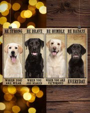 Labrador be strong 36x24 Poster aos-poster-landscape-36x24-lifestyle-26